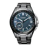 CITIZEN GPS衛星對時光動能鈦腕錶/藍/CC3015-57L