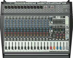 凱傑樂器 BEHRINGER PMP6000 POWER MIXER 1600W 功率混音座