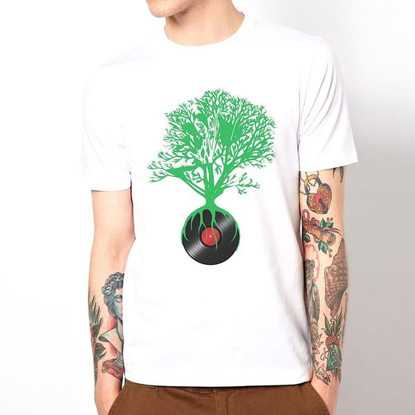 Record not dead 短袖T恤 白色 DJ唱片不死人物相片潮流搖滾樂團藝術趣味幽默