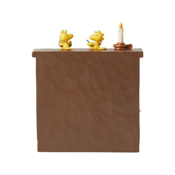 Enesco Peanuts SNOOPY 史努比聖誕壁爐塑像_EN13867