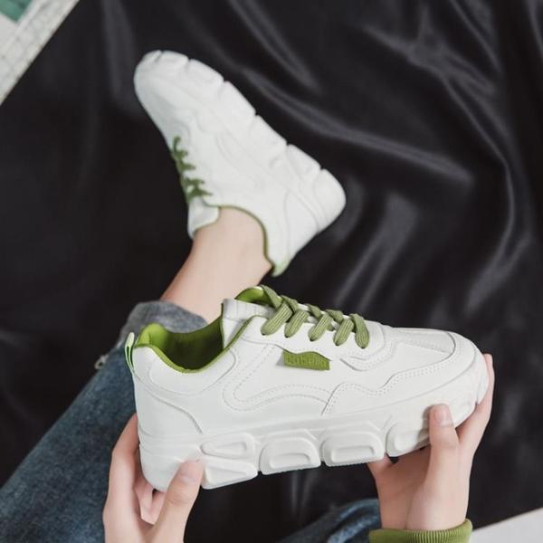 小白鞋女學生平底2020秋季新款百搭網紅運動老爹鞋帆布板鞋ins潮 【端午節特惠】