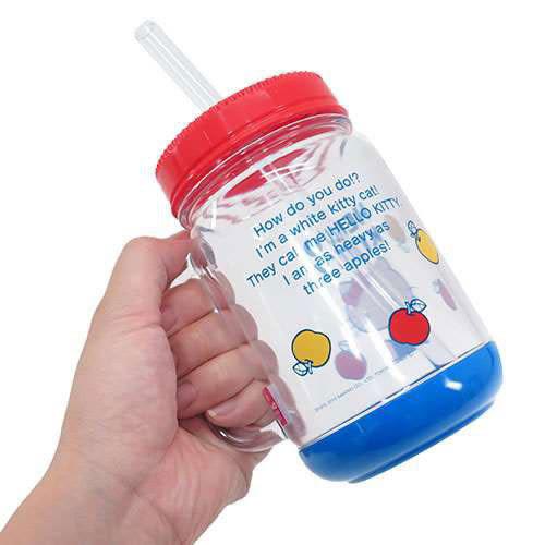 《SKATER》HELLO KITTY萬用沙拉罐馬克杯/梅森罐(70年代)★funbox生活用品★_S31688