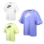 NIKE 女短袖T恤(寬版 慢跑 純棉 經典款 LOGO 休閒≡體院≡ CJ3106