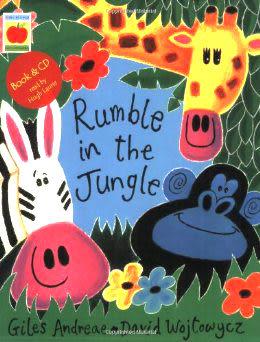 【麥克書店】RUMBLE IN THE JUNGLE /英文繪本+CD 《主題: 想像.動物》