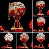 中式新娘手捧花古典婚禮扇子秀禾拍照道具