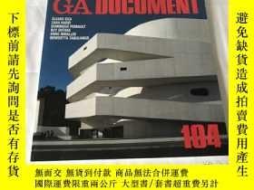 二手書博民逛書店GA罕見Document 104(英、日、雙語)Y8204 世界建築 世界建築