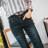 OB嚴選《BA1849-》漸層暈染設計窄管牛仔褲--適 XS~XL