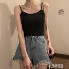 夏季韓風外穿修身百搭吊帶背心女純色內搭學生顯瘦搭配短款上衣潮 小宅妮