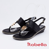 itabella.女神風采-時尚夾腳涼鞋(0317-90黑色)