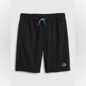 Gap男童簡約風格鬆緊腰運動短褲540268-純正黑色