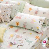 標準雙人床包美式枕套三件組 【不含被套】【 DR920 小森林 綠 】100% 300織精梳純棉 OLIVIA