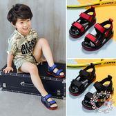 售完即止-男童涼鞋兒童皮質寶寶涼鞋中大童學生男孩沙灘鞋韓版7-27(庫存清出S)