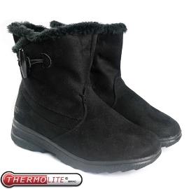【女 牛角扣低筒雪靴 黑】SN205/低筒靴/雪靴/雪鞋/冰爪