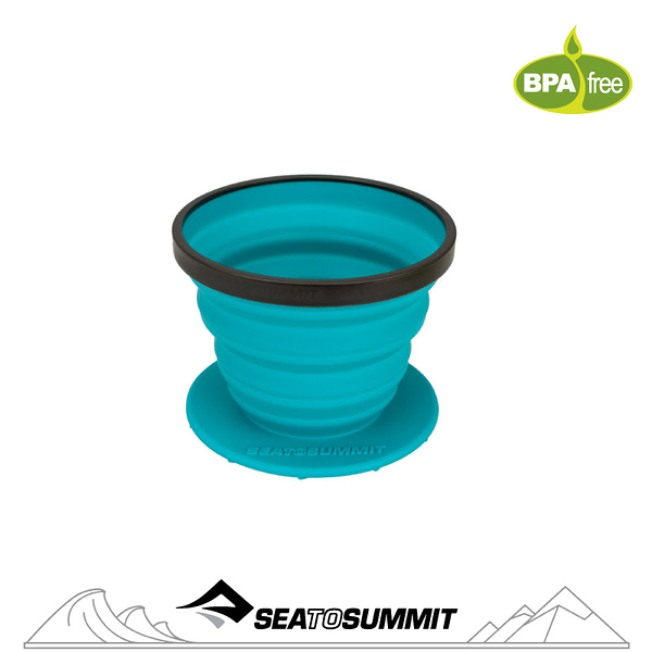 【Sea to Summit 澳洲 X-咖啡過濾杯《洋藍》】STSAXBREW/咖啡濾杯/戶外餐具/摺疊杯/登山露營/戶外野炊