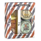 REUZEL Shower&Shave 潔淨香氛禮盒組(髮浴350ml+剃鬍膏95.8g+香氛蠟燭113g)《Belle倍莉小舖》08716