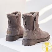 雪地靴女皮毛壹體鞋子加厚短靴子棉鞋【雲木雜貨】