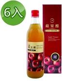 【南紡購物中心】【台糖】蘋果醋(600ml/瓶)6瓶