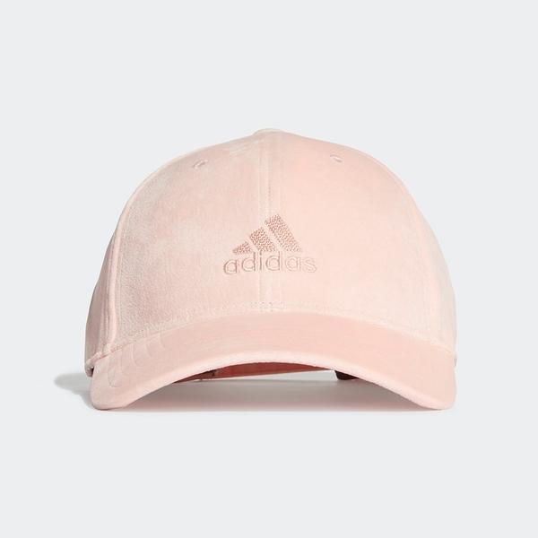 Adidas Bball Velvet CA [FT8845] 棒球帽 老帽 天鵝絨 運動 休閒 柔軟 遮陽 粉紅