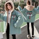 羊羔毛夾克外套加絨 工裝棉服女生外套 學生女士外套 韓版外套羽絨外套 加厚冬季上衣潮流