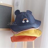 微笑彩虹立體耳朵漁夫帽 童帽 帽子 遮陽帽