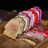 中國特色花棉襖流蘇零錢包絲綢唐裝小衣服硬幣包出國送老外小禮品