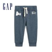 Gap男嬰Gap x Disney 迪士尼系列棉質舒適Logo鬆緊腰休閒褲547502-淺藍色