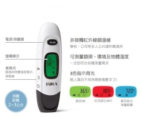 非接觸式測溫槍 額溫-台灣製造