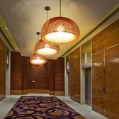 竹吊燈東南亞簡約創意竹編燈籠燈罩中式茶室書房客廳臥室餐吊燈具 igo