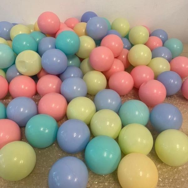 加厚海洋球波波球混色馬卡龍色球池球(約100顆/直徑7/@666-725)