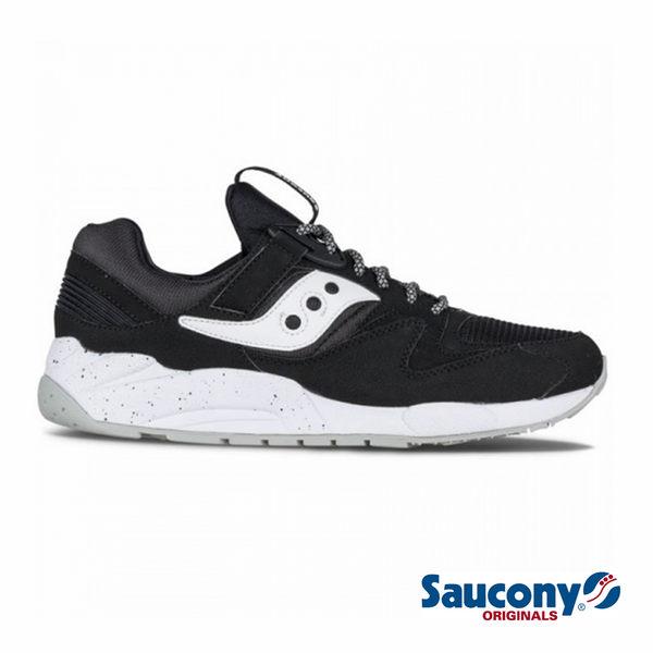SAUCONY 經典復古鞋款-黑X白
