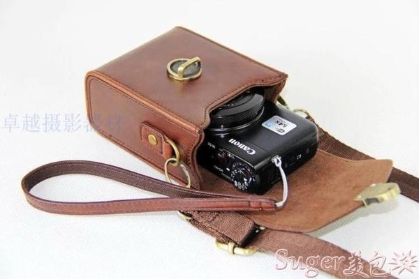 相機包適用佳能G7X3 G5X2索尼RX100M6黑卡7皮套鬆下LX10理光GR2/3相機包 suger