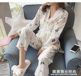 和服睡衣女秋季純棉長袖韓版甜美可愛