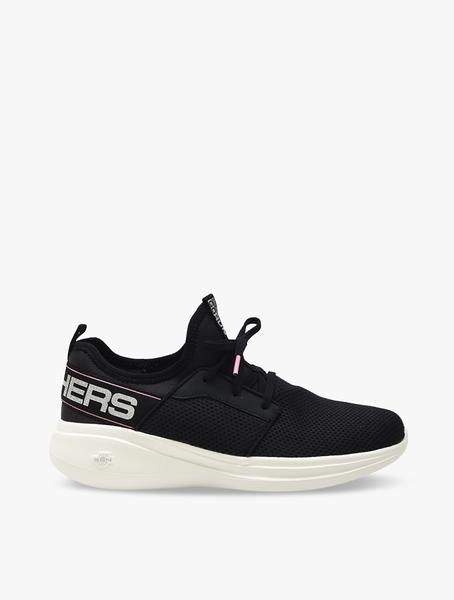 SKECHERS系列-Go Run Fast 女款黑色運動慢跑鞋-NO.124203BKW