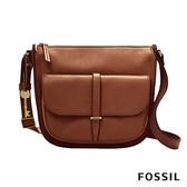 FOSSIL Ryder 真皮大側背包-咖啡色 ZB7411200