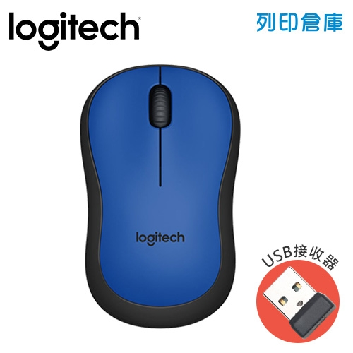 Logitech羅技 M221靜音滑鼠-藍色(USB接收器)