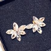 耳環 玫瑰金純銀水晶-精緻簡潔生日情人節禮物女飾品73ca107【時尚巴黎】