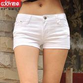現貨春夏季低腰純白色短褲 顯瘦牛仔女韓版熱褲大碼緊身薄超短褲 全館免運8-10