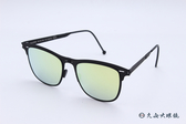 ROAV 偏光太陽眼鏡 Jett - Mod.8202 ( 霧黑框/黃水銀 ) 薄鋼折疊墨鏡