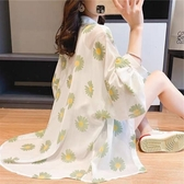 (快出)防曬衣 小雛菊女薄款夏季外搭雪紡冰絲長袖網紅透氣開衫超仙外套潮