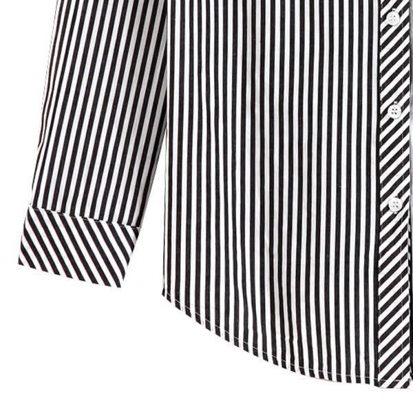 【MASTINA】直條紋文青襯衫-灰 0524