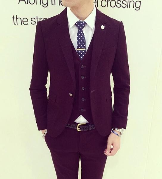 找到自己品牌 韓國男 舒適金絲面料 小西裝 修身西裝 西裝外套 單件外套