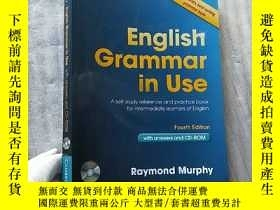二手書博民逛書店English罕見Grammar in Use Fourth Edition【含光盤一張 書後有水漬 看圖】【有藏