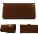 【橘子包包館】FOCUS 富可仕 質感原皮 真皮 21卡相片零錢袋 扣式長夾 FTC3478 咖啡