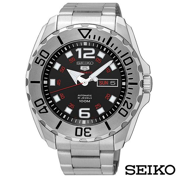 SEIKO精工 精工5號運動風夜光機械錶 SRPB33K1