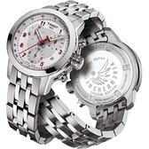 TISSOT 天梭 T-Sport PRC200 亞運會特別版三眼計時手錶-銀 T0552171103200