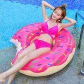 甜甜圈游泳圈 - 歐美暢銷甜美咬一口~另售獨角獸黑天鵝彩虹馬浮板M067 下標免運