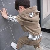 男童帥氣套裝秋裝兒童運動三件套秋款小童寶寶春秋潮衣服 夢娜麗莎