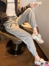 熱賣縮口褲 加絨灰色運動褲女寬鬆冬季新款休閒衛褲顯瘦百搭束腳褲哈倫蘿卜褲 coco