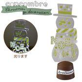 Hamee 日本 DECOLE concombre 聖誕露營夜 療癒公仔擺飾 (LED燈 雪人) 586-740449