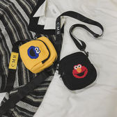 胸包 包包女2019新款潮斜背帆布搞怪醜萌學生可愛韓版百搭網紅小包 3色